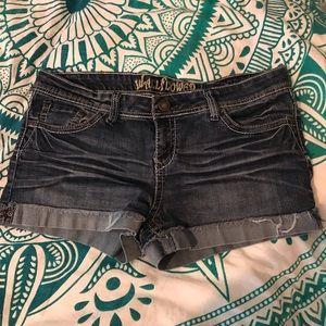 Wallflower denim shorts
